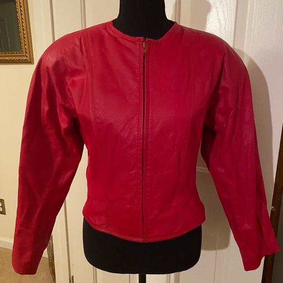 Tarazzia Jackets & Blazers - Red Leather Jacket